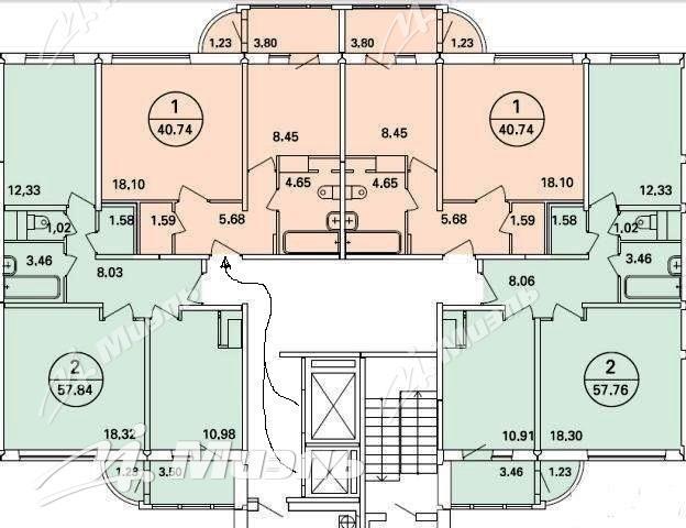 Продается 1-комнатная первичка находится бианки ул. , 5к1, м.