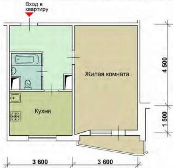 Дизайн двухкомнатной квартиры распашонки п44т - дизайн двухк.