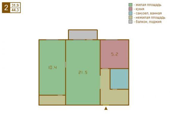 Двухкомнатная новая квартира в, по адресу открытое ш. , 28к2.
