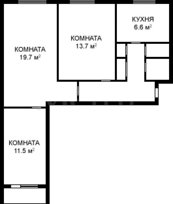 Площадь однокомнатной квартиры серии 1605-ам/12