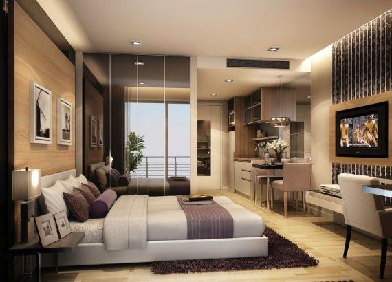 варианты дизайна однокомнатных квартир с фото #10
