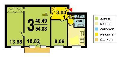 Продается 3-комнатная новая квартира находится нарвская ул. .
