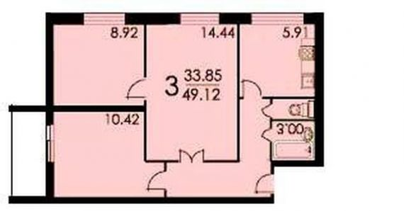 Однокомнатная новая квартира находится Чертановская ул. , 58.
