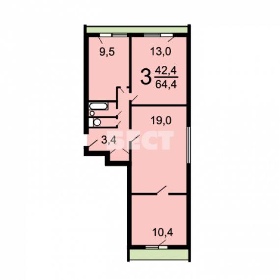 Дома серии и-209а - планировка квартир.