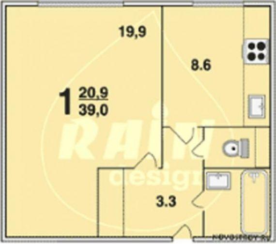 Продается 1-комнатная квартира по адресу конаковский пр. , 8.