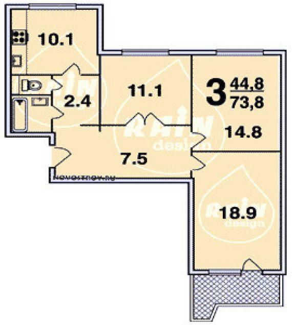 Предлагается трёхкомнатная квартира расположение 800-летия м.