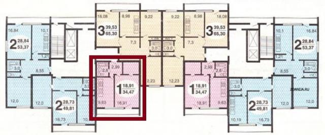 Предлагается однокомнатная квартира расположение Яблочкова у.