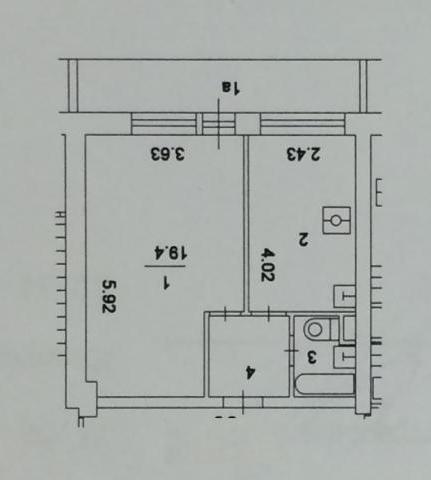 1-комнатная новая квартира расположение измайловское ш. , 17.