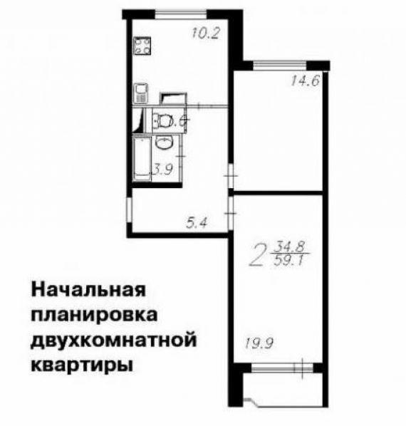 Перепланировка квартир в домах серии копэ. разработка плана .