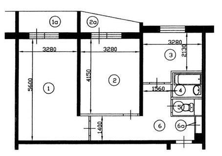 Перепланировка квартир в домах серии ii-57. согласование пер.