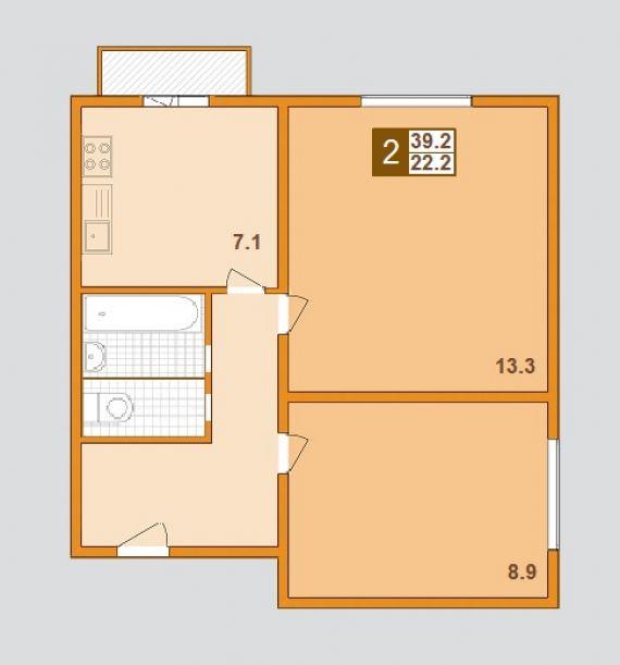 Продается 2-комнатная новая квартира находится паперника ули.