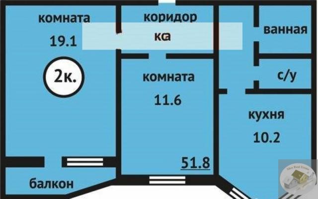 Продам двухкомнатную (2-комн.) квартиру, ботаническая ул, д..