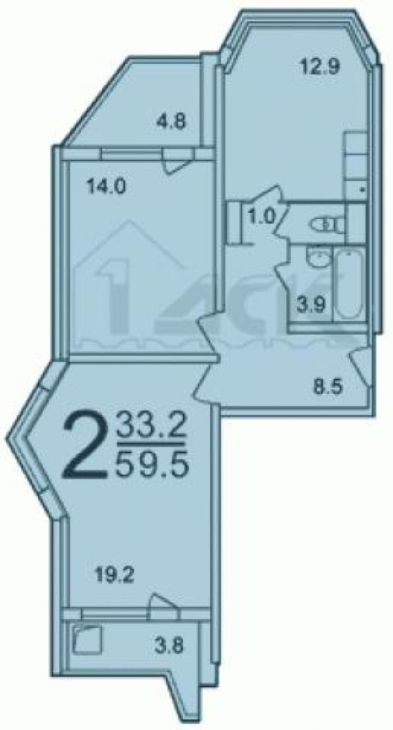 Точные размеры лоджии утюжок дома серии п44т..