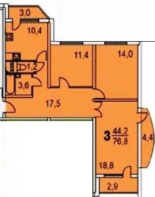 Предлагается 3-комнатная новостройка расположение очаковская.
