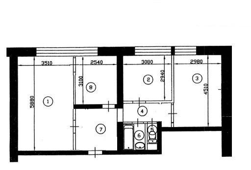 Продается 3-комнатная первичка по адресу шипиловская ул. , 1.