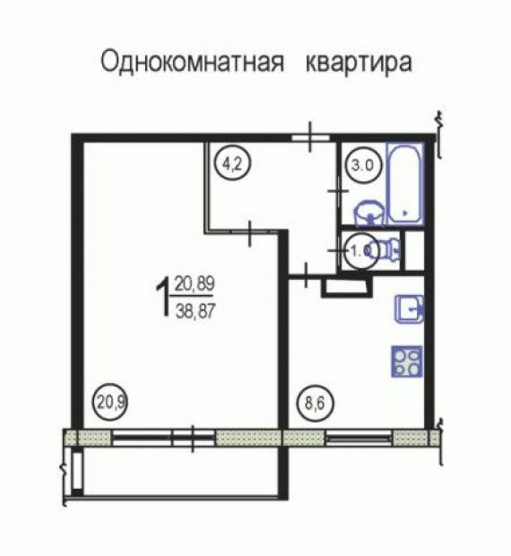 Купить квартиру ,москва 39 м2 однокомнатная , метро: , марьи.