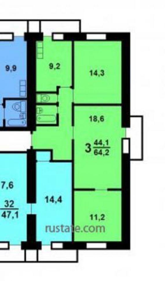 Продается трёхкомнатная новая квартира расположение пресненс.