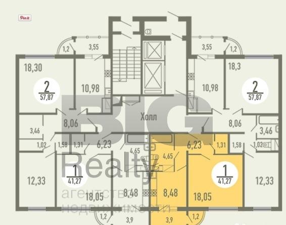 Квартира 56 кв.м за 4 890 000 рублей, в регионе московская о.