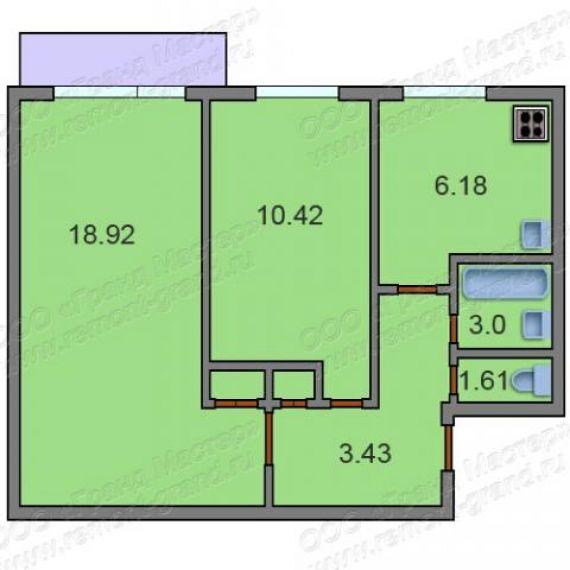 Продается двухкомнатная квартира находится кавказский бул. ,.