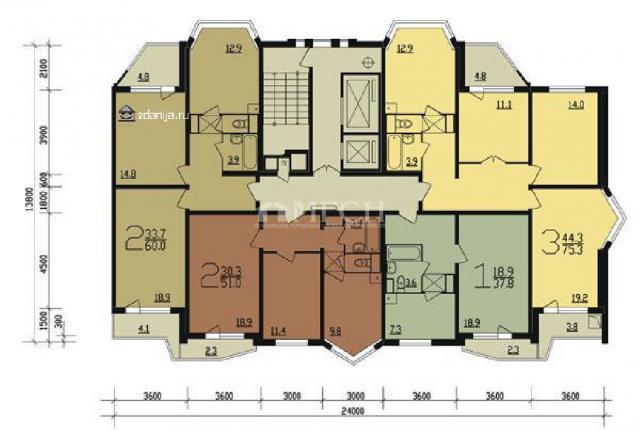 Продается трёхкомнатная квартира в, находится новочеремушкин.