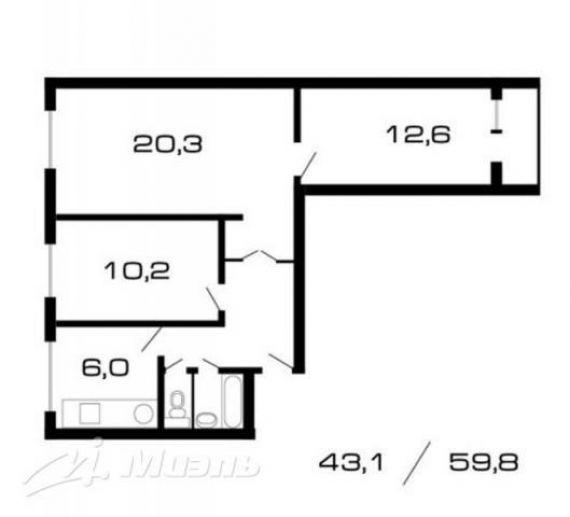 Предлагается трёхкомнатная новая квартира по адресу борисовс.