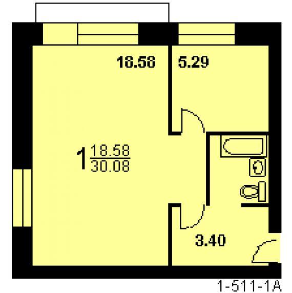 Дом серии э-93 совмещение балкона.