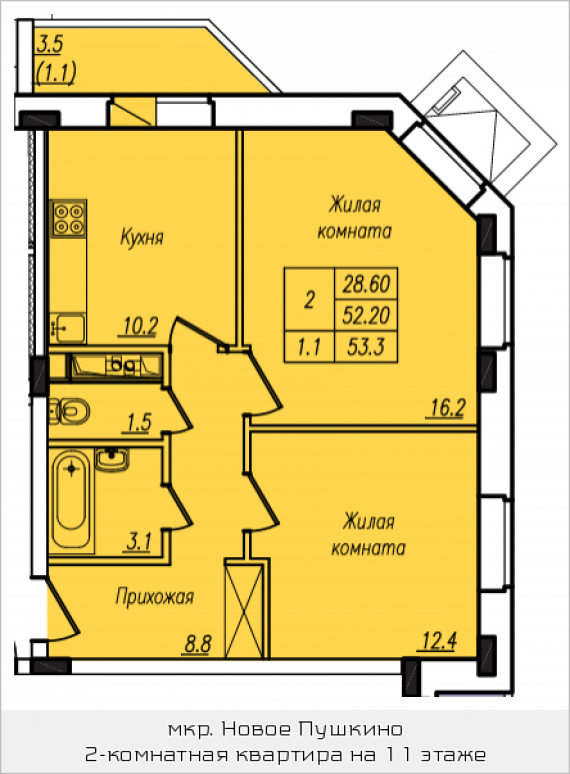 2 этаж жилая комната