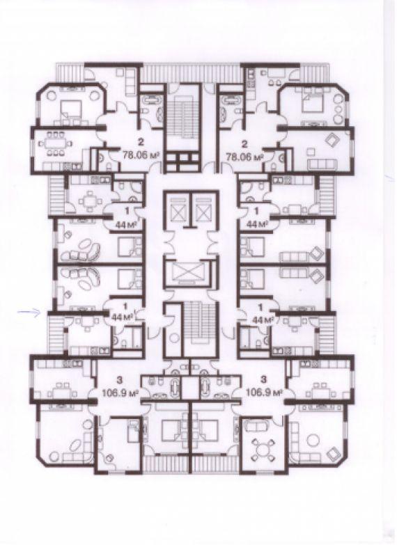 """Многолучевые высотные здания в жилищном строительстве """" архи."""